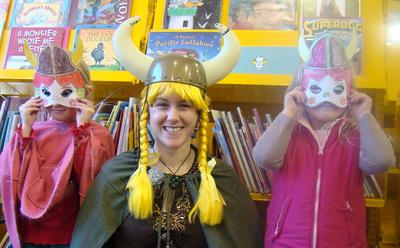 Viking dress-ups at school