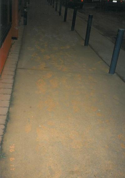 Footprints Ruapehu Ash