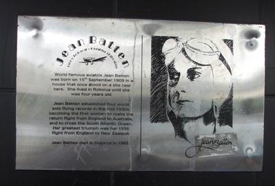 Jean Batten in Rotorua