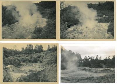 Four views of thermal activity at Waimangu