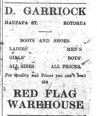 Red Flag Warehouse Newspaper Ad 1920