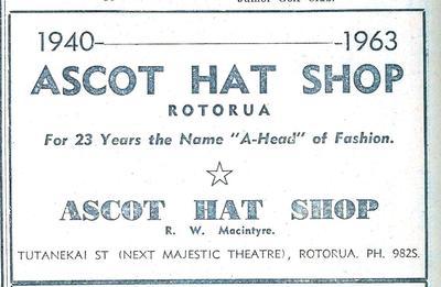 Ascot Hat Shop Ad