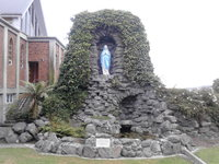 Grotto with Statue of Mary .