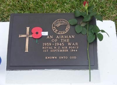War Grave RNZAF at Bourail
