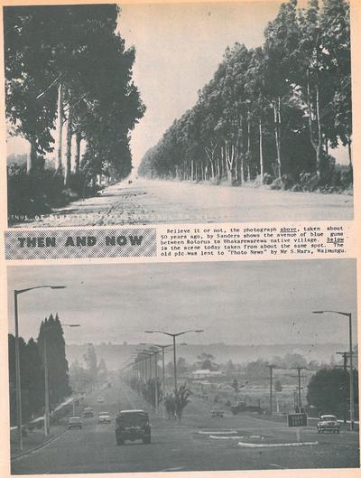 Fenton Street, Then (c1917) and Now (1967)
