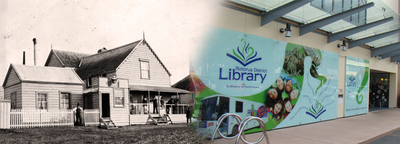 Rotorua District Library Now 2014 and Then 1889