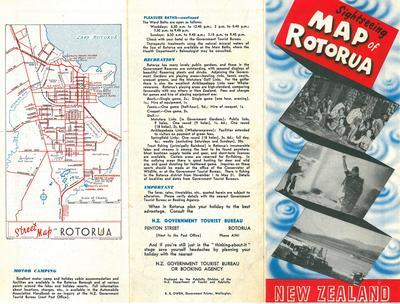Tourist Pamphlet of Rotorua 1940s