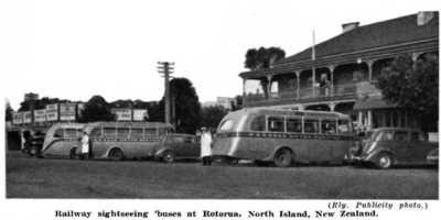 Buses to Rotorua c1930s