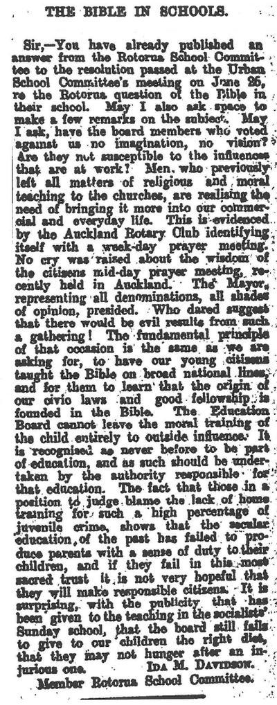 New Zealand Herald excerpt from Papers Past