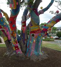 Yarn Bomb Tree at RAVE.