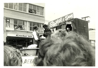 Christmas Parade past Kowhai Dairy 1965