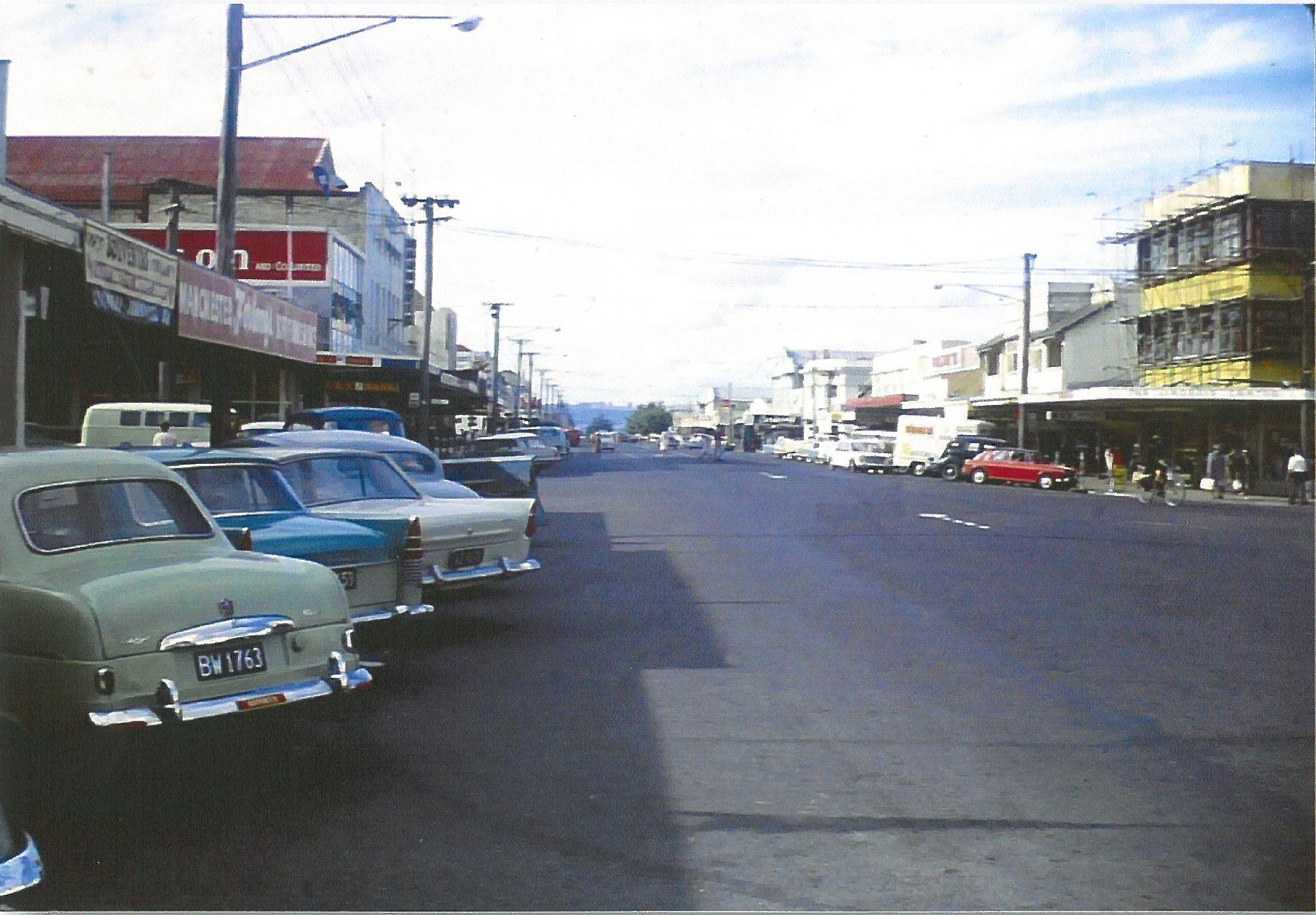 Tutanekai St 1960s looking north