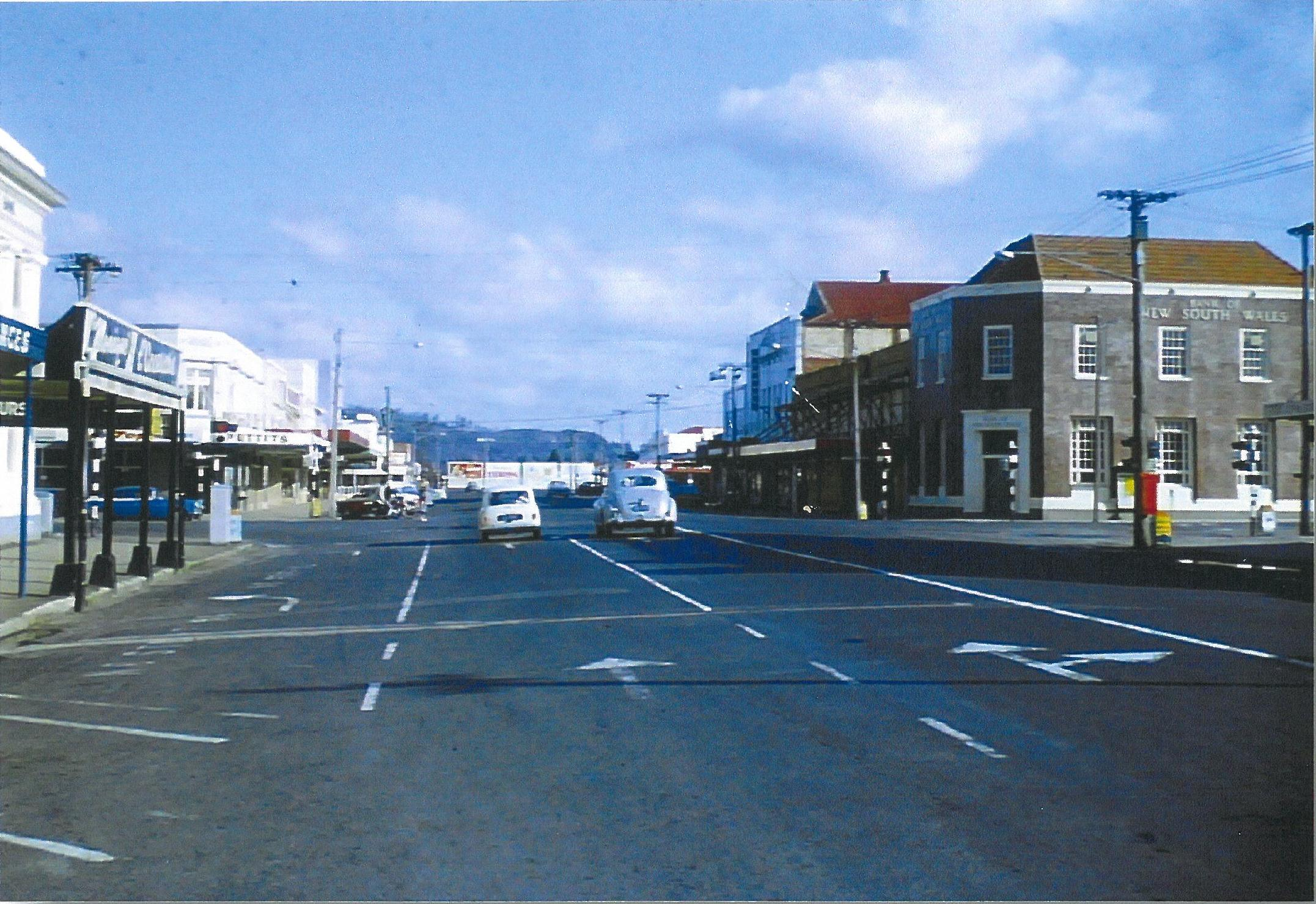 Tutanekai St 1960s looking south