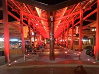 Eat Street at night - Red