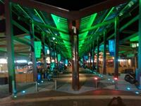 Eat Street at night - Green