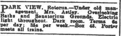 Advert from New Zealand Herald, 28 January 1916