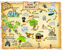 ROAR into Reading Trail Poster.