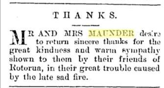 Maunder's Fire 1896