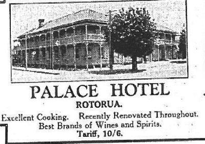 Palace Hotel advert 1933
