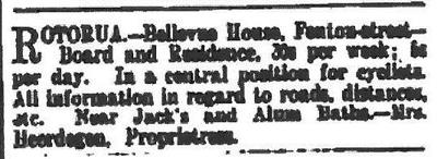 Advert from New Zealand Herald 15 December 1898