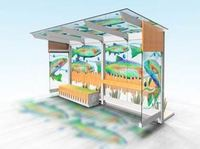 Concept design for bus shelter at the Mall Bus Shelters