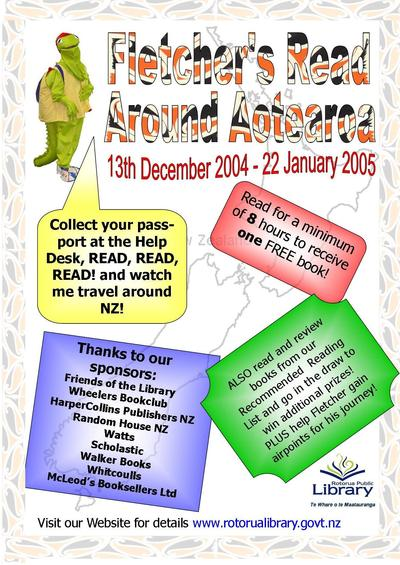 Fletcher's Read Around Aotearoa Poster
