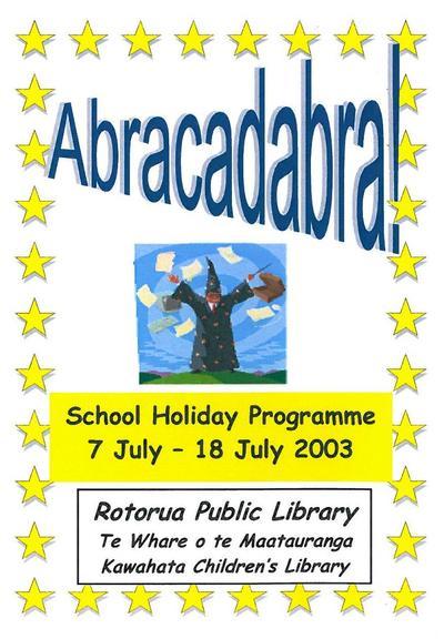 Abracadabra Programme Cover