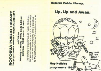 Up, up and Away programme cover