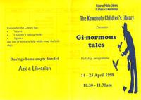 Gi-normous Tales Holiday Programme Cover.