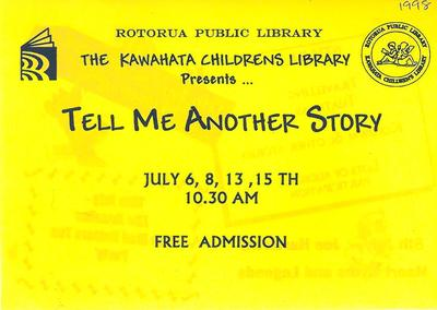 Tell me Another Story Holiday Programme Cover