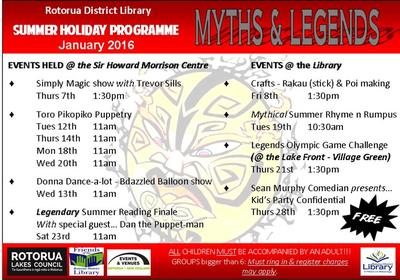 Myths and Legends 2015-2016