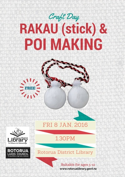 Craft Day, Rakau and Poi Making.