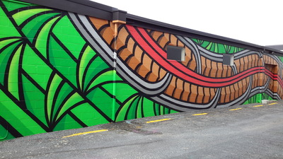 James Shirley Mural, Pukuatua Street, Rotorua