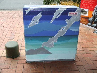 Unison Box Makeover SW cnr Eruera and Tutanekai Streets.