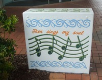 Unison Box Makeover SE cnr Fenton and Hinemoa Streets.