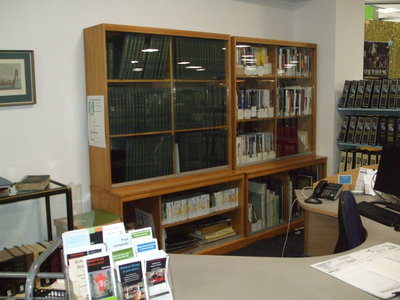 Heritage & Research, Glass Case of Reference items