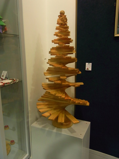 Wooden Christmas Tree by Bruce McPike.